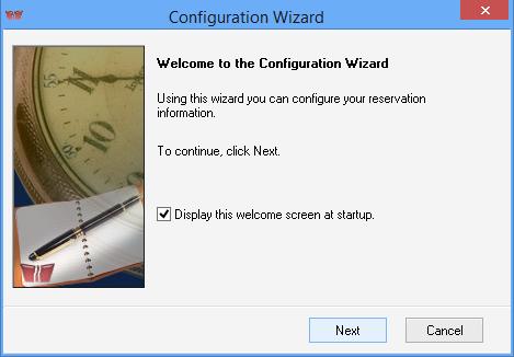 iMagic Hotel Reservation - Configuration Wizard Screen